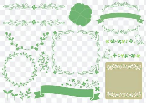 Seasonal event material 004 clover set