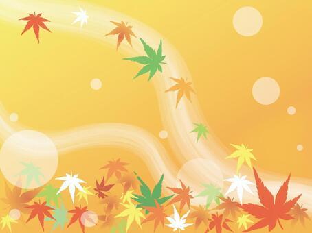秋天的葉子橙色