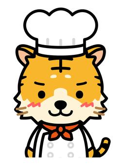 老虎廚師的上半身