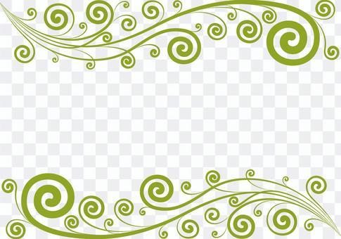 クラシカルな蔦のフレーム グリーン