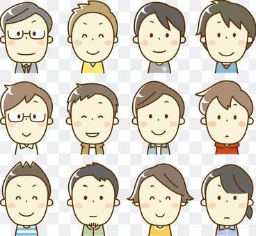 脸图标男孩(上半身)