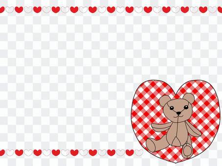库玛的填充玩具和心框架