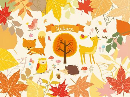 秋天的森林的例證匯集(3)