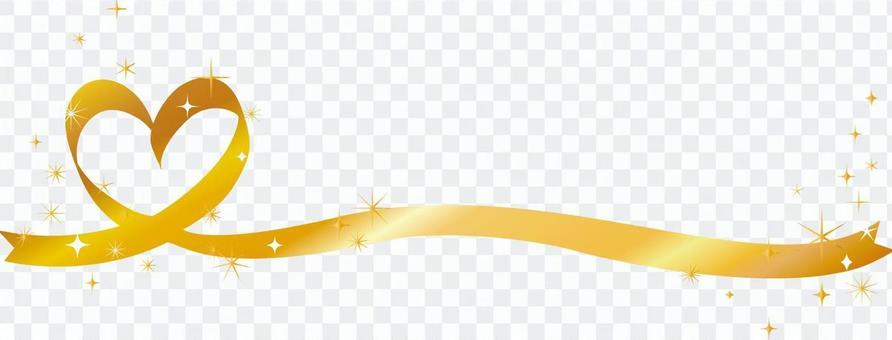 金心絲帶線閃光星標題框