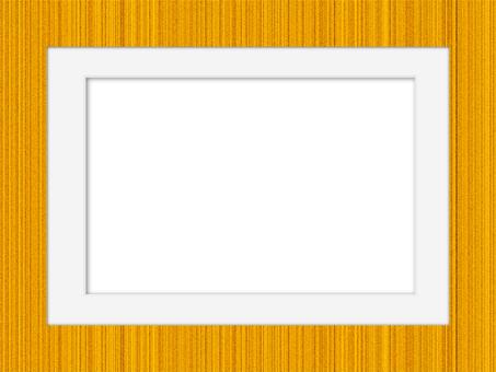 立式木框和白色啞光相框