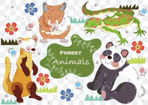 Forest animal set 11