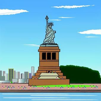 自由の女神 アメリカ 手描き イメージ