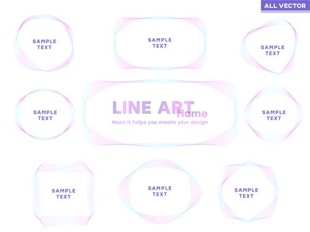 [Ideal for spring!] Frame material line art