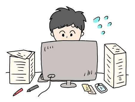 A man who is busy working on a computer