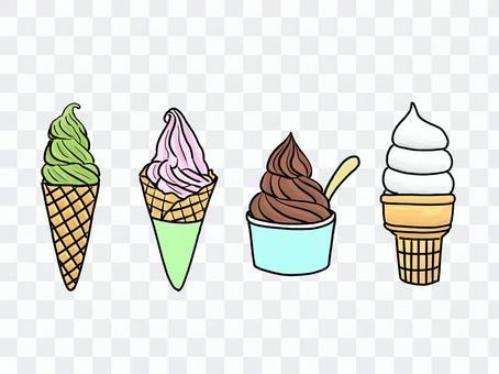 各種軟冰淇淋
