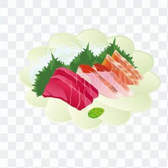 生魚片盤片(白色花型的培養皿)