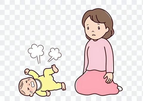 嬰兒在抑鬱症後哭泣