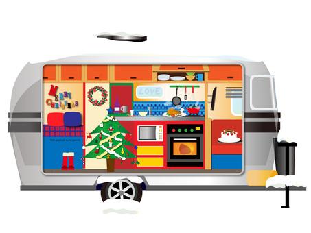 拖車內(聖誕節)