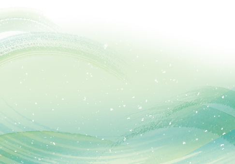 山/綠色/自然圖像水彩背景春天/夏天