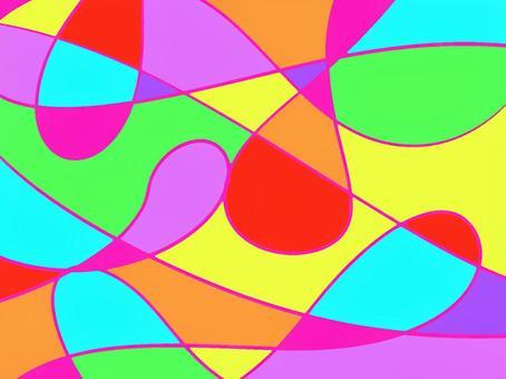 サイケデリック風レトロ壁紙 曲線
