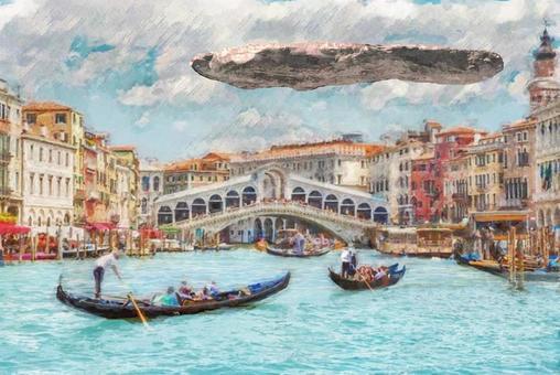 Oumuamua,在威尼斯飛行的巨型小行星