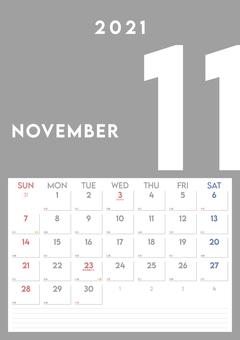2021 年 11 月日曆 vol.1