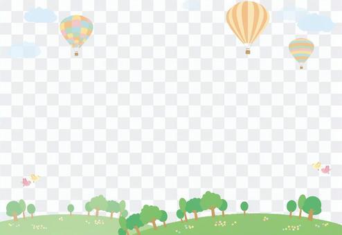 氣球景觀(背景穿透)