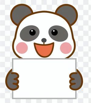 紙 ボード 手に持つ カンペ パンダ