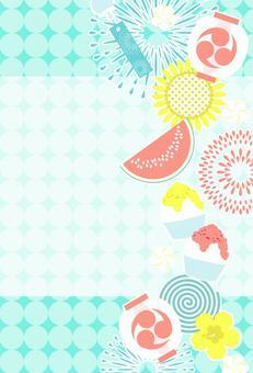 夏イメージのポストカード