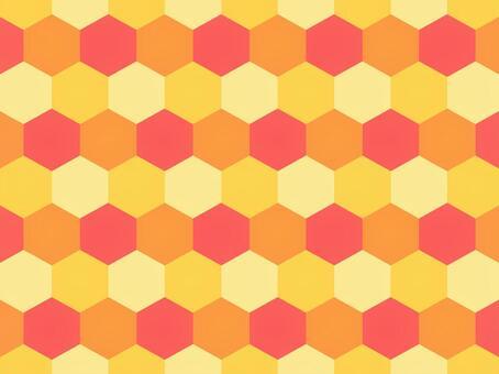 六角形_カラフル_3