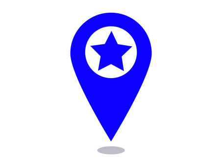 Blue star map pin