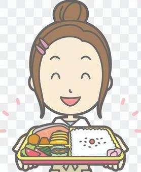 新妻子家庭主婦d-午餐-胸圍