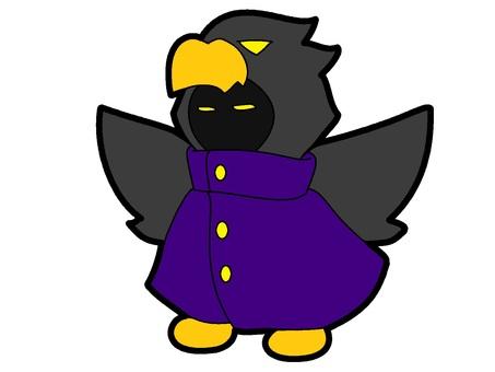 Purple Ubume Bird Costume Ghost