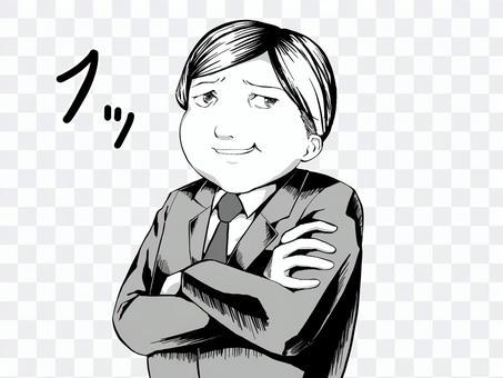 漫畫風格_男人_與字符