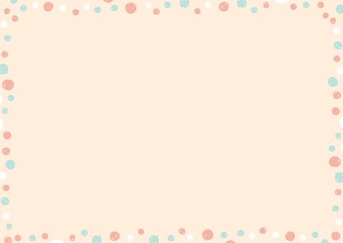 手繪點框,搭配可愛的配色方案