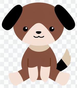 狗填充动物(深褐色