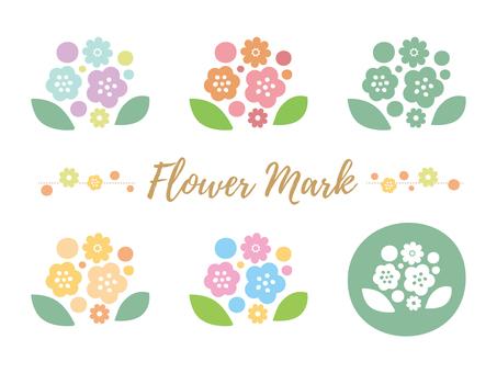 Flower mark material