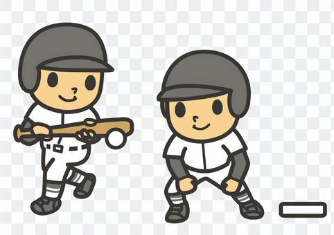 棒球短打和賽跑者