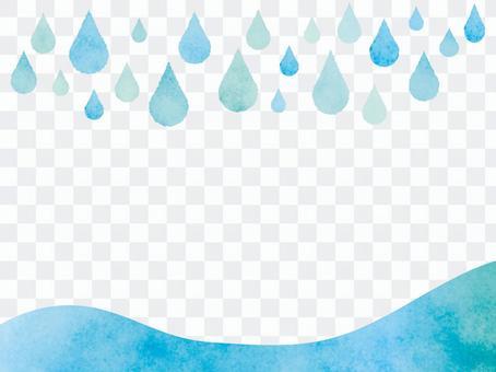 비 물방울 프레임