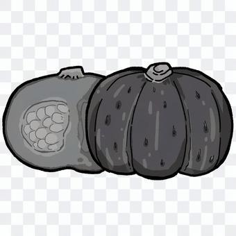 南瓜(黑白)