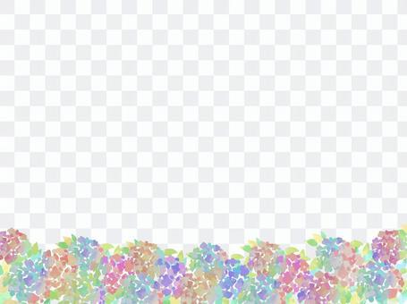 繡球花背景花場插圖雨季
