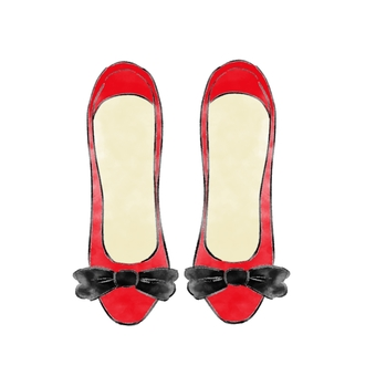 Red shoes ribbon