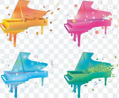 季節和鋼琴
