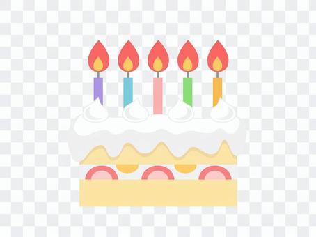 生日蛋糕(5支蠟燭)
