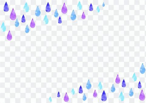 可愛的雨滴的水彩風格背景