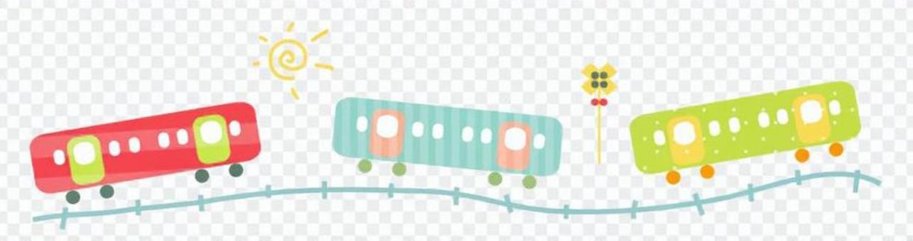 火车的例证(五颜六色)