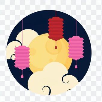 滿月和燈籠