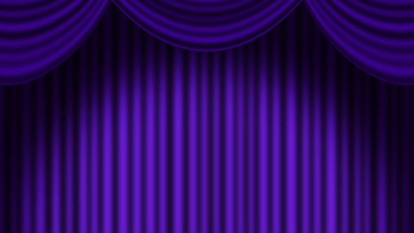 Full HD purple stage curtain background