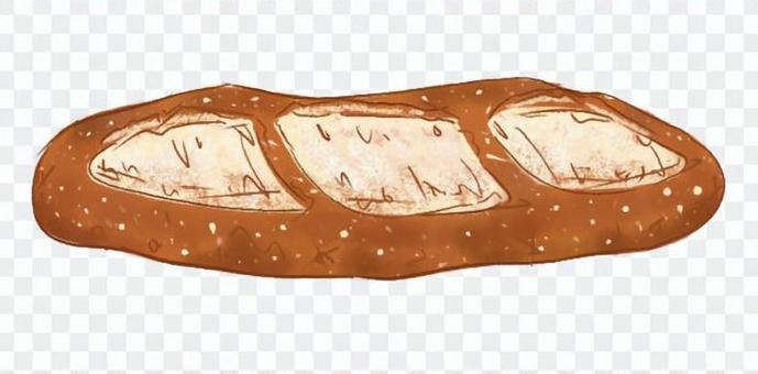 法式麵包和法式麵包