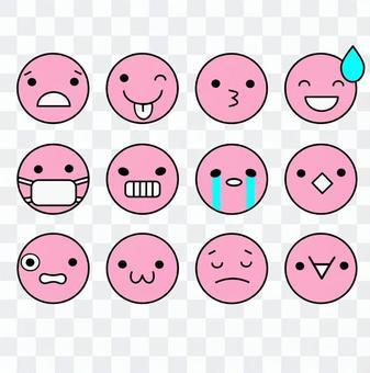 表情アイコンピンク2