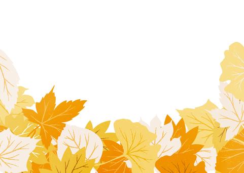 秋天落葉的背景材料