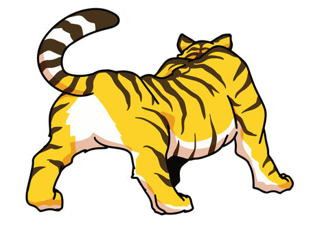 Backward tiger