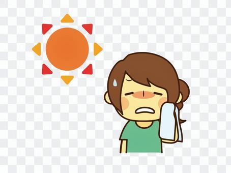 一個正在中暑的女人