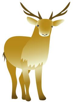 鹿男性插畫動物
