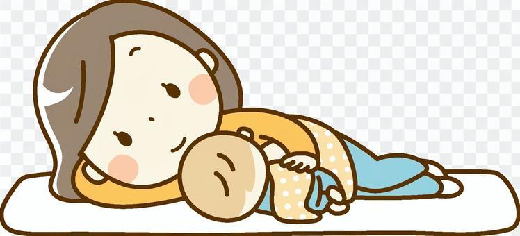 寶貝和媽媽_伴隨著牛奶